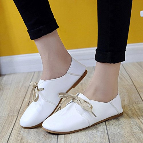 Casual Flats Schuhe Damen Freizeit Komfortable Weiß Transer Loafers on Slip Damen wB8xtqqdT