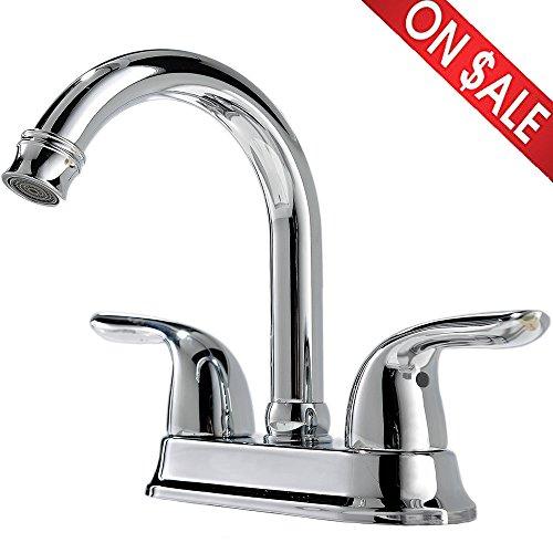 Comllen Best Commercial Two-Handle Lavatory Bathroom Vanity Faucet, Vessel Sink Faucet Chrome Finish