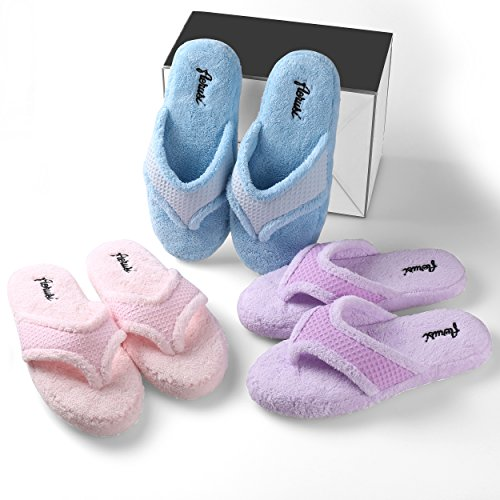 Warm Aerusi On Footwear Indoor Bedroom Spa Beautiful Soft Slippers Blue House Slip rwprqx0R