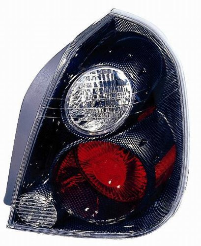 Carbon Fiber Depo (Depo 315-1938P-AS3 Nissan Altima Carbon Fiber Tail Light Assembly with Red/Clear Lens)