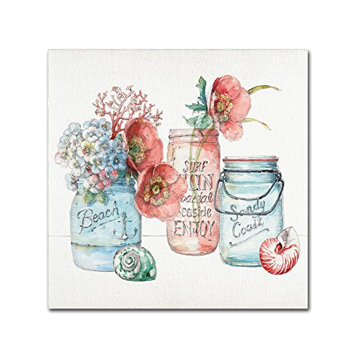 Fine Art Sea Finds VII by Lisa Audit, mason jar Canvas Wall Art