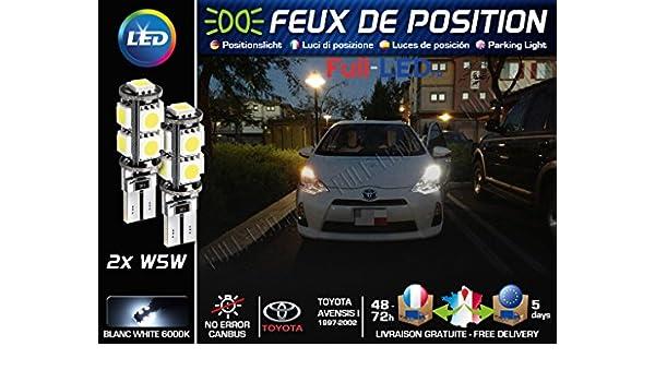 Bombillas Luz de posición LED - Toyota Avensis 1- W5 W blanco xenón: Amazon.es: Coche y moto