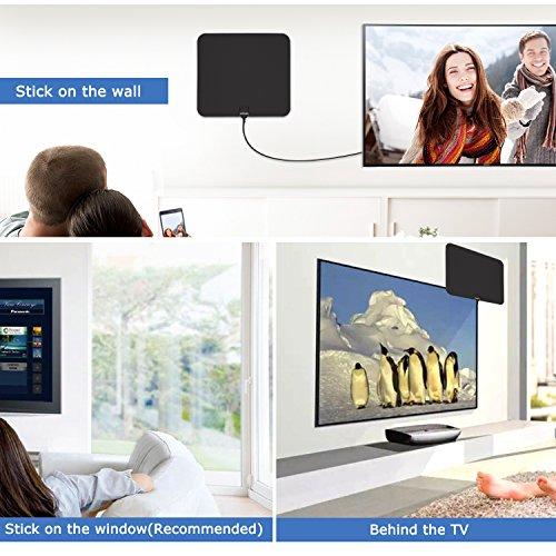 HDTV antenna indoor, Visualar™ TV antenna for digital TV indoor,50+