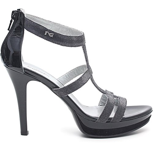 BLACK GARDENS woman sandals with heel P512991DE / 100 Nero V5H2bT3zWh