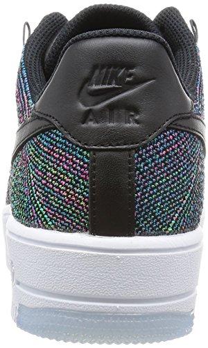 Nike Mens Af1 Ultra Flyknit Låg Basket Skor Svart / Bl Lgn-vltg Grn-pnk Blst
