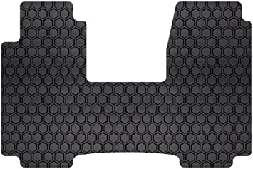 Set of 2 DD-397F-RT-C Black Intro-Tech Hexomat Front Custom Fit Auto Floor Mat -