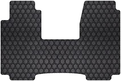Tan Intro-Tech FO-521F-RT-T Hexomat Front Row 2 pc Rubber-Like Compound Custom Fit Auto Floor Mats for Select Ford C-Max Models