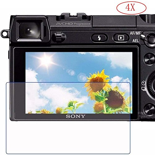 PCTC Tempered Glass Screen Protector Film for Sony DSLR Alph