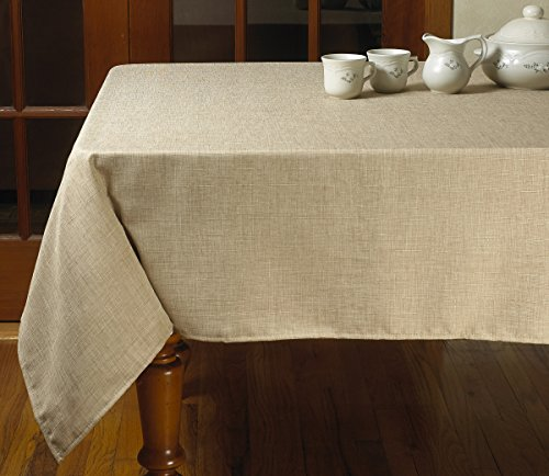 Violet Linen Euro Linen Vintage Design Tablecloth, 60