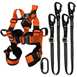 Fusion Climb Tactical Edition Kids Commercial Zip Line Kit Harness/Dual Lanyard/Carabiner Bundle FTK-K-HLLC-05