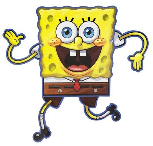 Amscan Silly SpongeBob Birthday Party Postcard Invitations (8 Piece), Yellow/Brown, 6 1/4