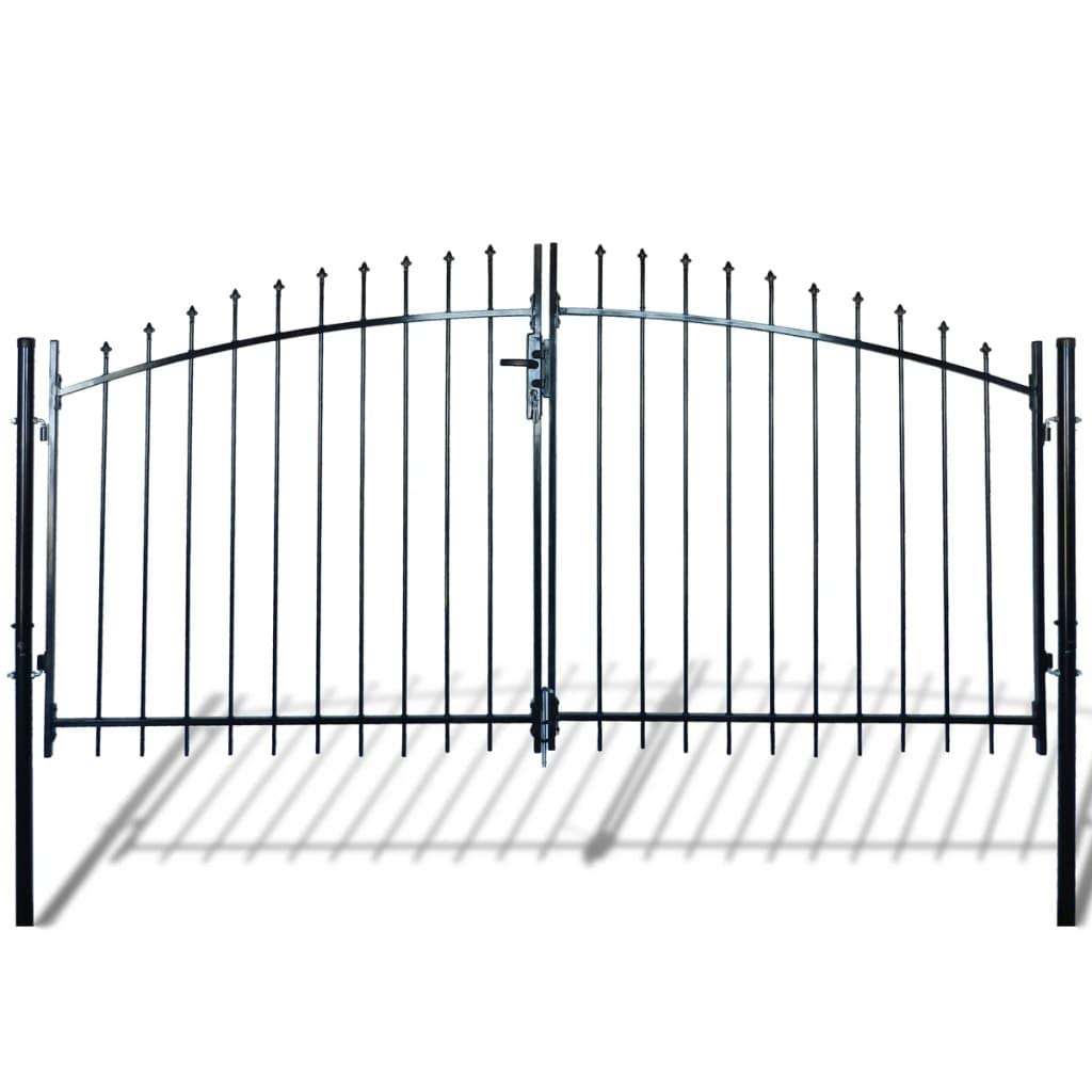 Unfade Memory Contemporarily Styled Double Door Fence Gate with Spear Top (10' x 5') by Unfade Memory