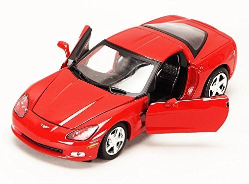 Chevy Corvette C6, Red - Showcasts 73270 - 1/24 scale Diecast Model Toy Car, but NO BOX ()