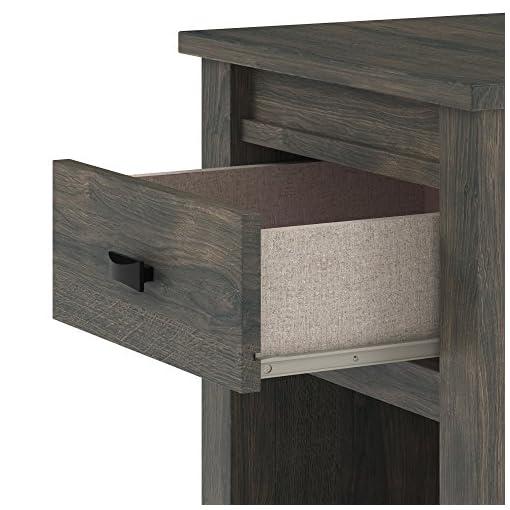 Bedroom Ameriwood Home Farmington, Nightstand, Weathered Oak farmhouse nightstands