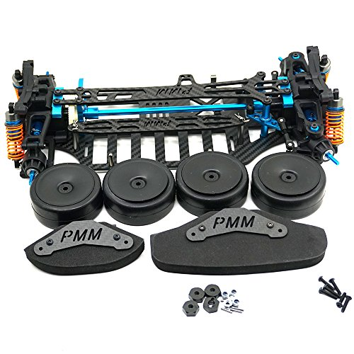 RCLions Plastic&Carbon Fiber Shaft Drive 4WD Chassis RC Touring Car Frame Kit for Tamiya TT01 TT01E ()