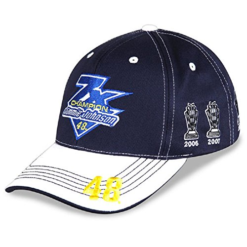 2016 Sprint Cup Champion Championship Hat 7X Seven Time Jimmie Johnson #48 Hat Cap One Size Fits Most OSFM