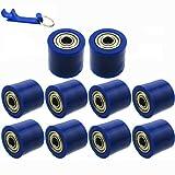 TC-Motor Blue 8mm Chain Roller Pulley Tensioner For ATV Quad 4 Wheeler Dirt Motor Pit Bike Motorcycle Motocross (10)
