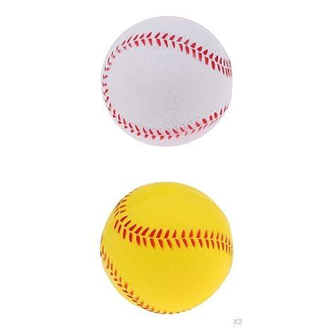 F Fityle Pack de 2 Softbol Balls Pelotas Balón para Entrenamiento ...