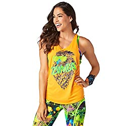 Zumba Rock N Rave Loose Tank Top (Medium, Tangerine Tango)