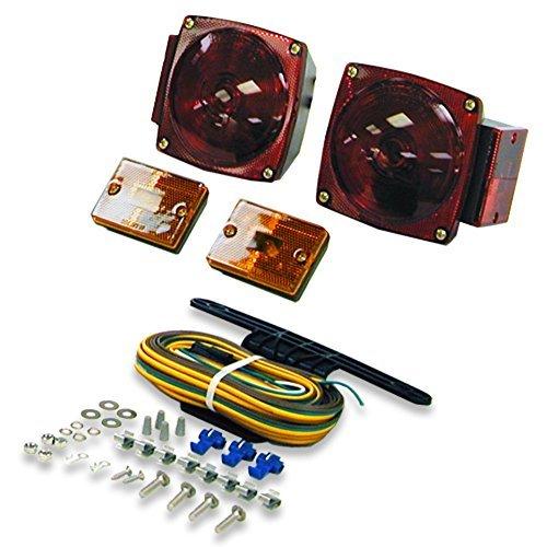 Blazer C6423 Square Trailer Light Kit - Red