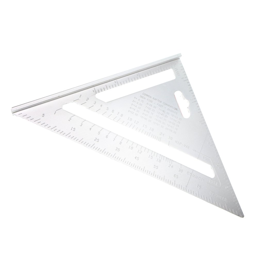 Homyl Aluminum Alloy Measuring Square Speed 7 Inch Triangle Ruler Miter Framing Thickened Durable Industrial Grade Materials