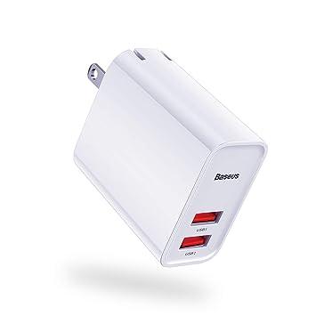 Amazon.com: Cargador de pared USB dual (2019 actualización ...