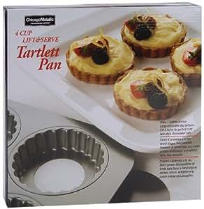 Chicago Metallic 4 Cavity Tartlett Pan, 10.60 by 9.90 by 1.30-Inch