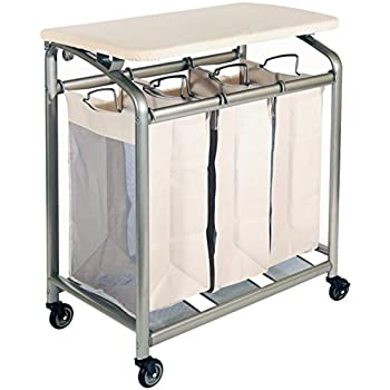 Amazon Com Ollieroo Classic Rolling Laundry Sorter Cart