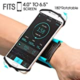 VUP Wristband Phone Holder for iPhone Xs Xs Max XR X 8 8 Plus 7 7 Plus 6S 6 5S Samsung Galaxy S9 S8 Plus S7 Edge, Google Pixel, 180° Rotatable, Great for Hiking Biking Walking Running Armband (Blue)