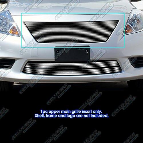 APS Compatible with 2012-2014 Nissan Versa Sedan Upper Main Upper Billet Grille Insert N19-A47968N