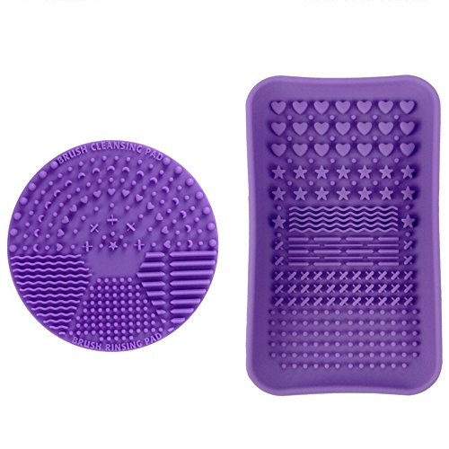 ESARORA Makeup Brush Cleaning Mat, Makeup Brush Cleaner, Makeup Brush Cleaning Mat & Makeup Brush Cleaning Plate Portable Washing Tool More Easy to Clean Makeup Brush -