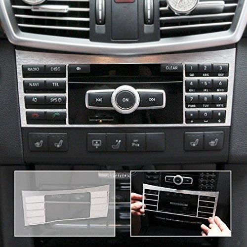 Panel Center Trim (beler Car Interior Auto Aluminium Center Console Button Switch Panel Cover Trim for Mercedes-Benz W212 E Class)