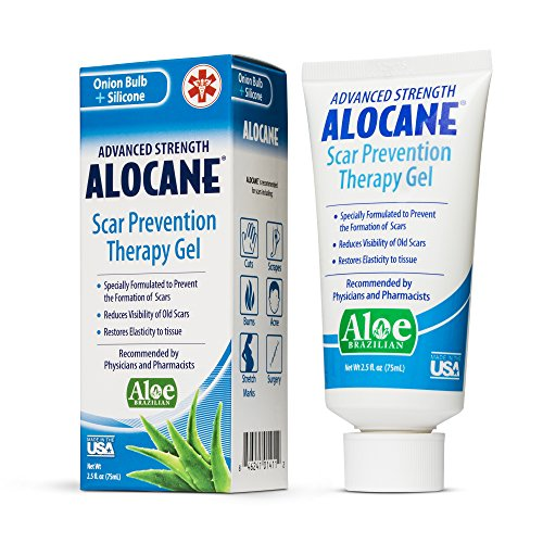 Alocane Advanced Scar Prevention Therapy Gel, Silicone for Scars, Stretch Marks, Surgeries, Reduces Appearance of Old & New Scars, Scar Treatments for cuts & Burns, Made in The USA, 2.5 Fl Oz