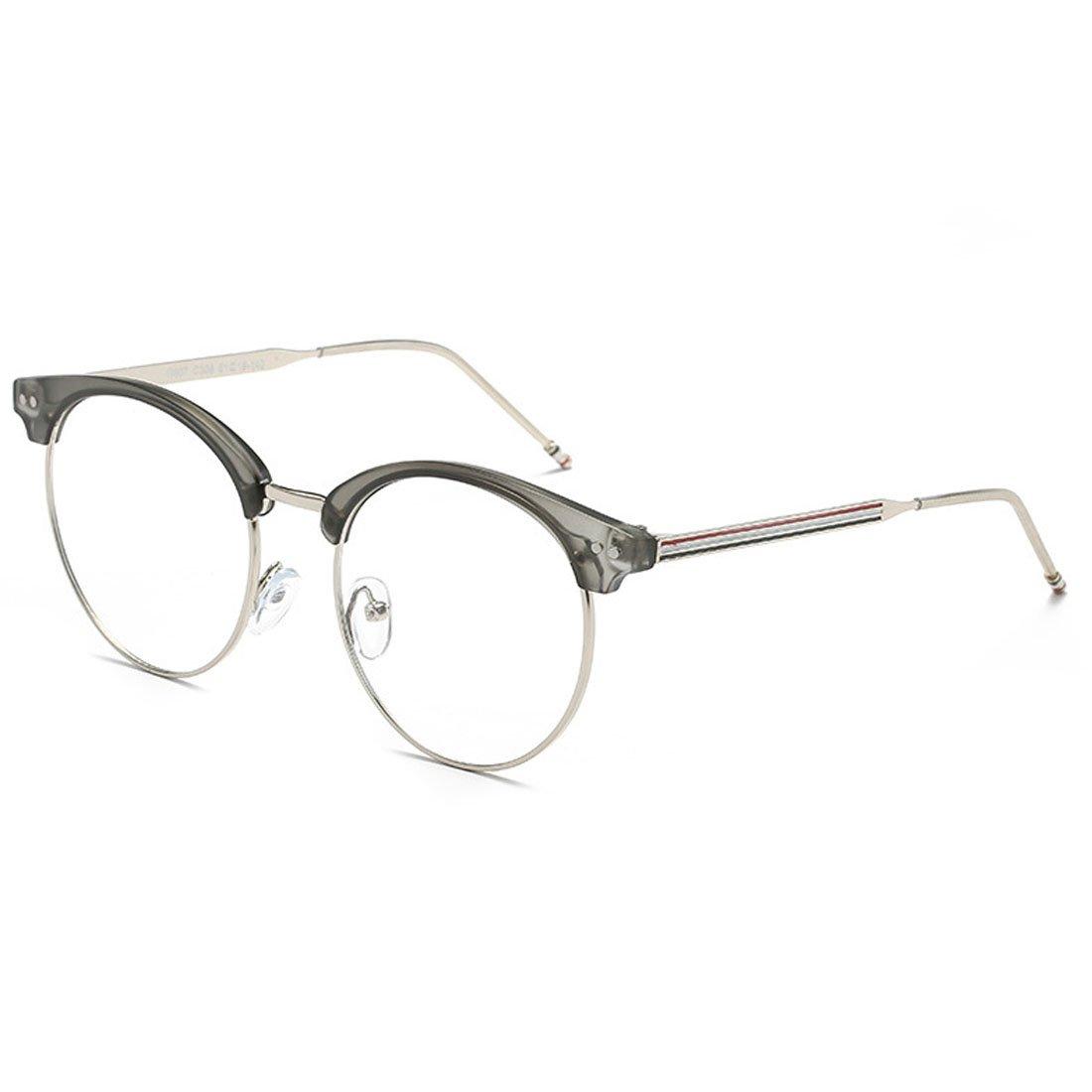 f56af527b80 Amazon.com  D.King Vintage Optical Round Eyewear Eye Glasses Frame with  Clear Lenses Black Gold  Clothing