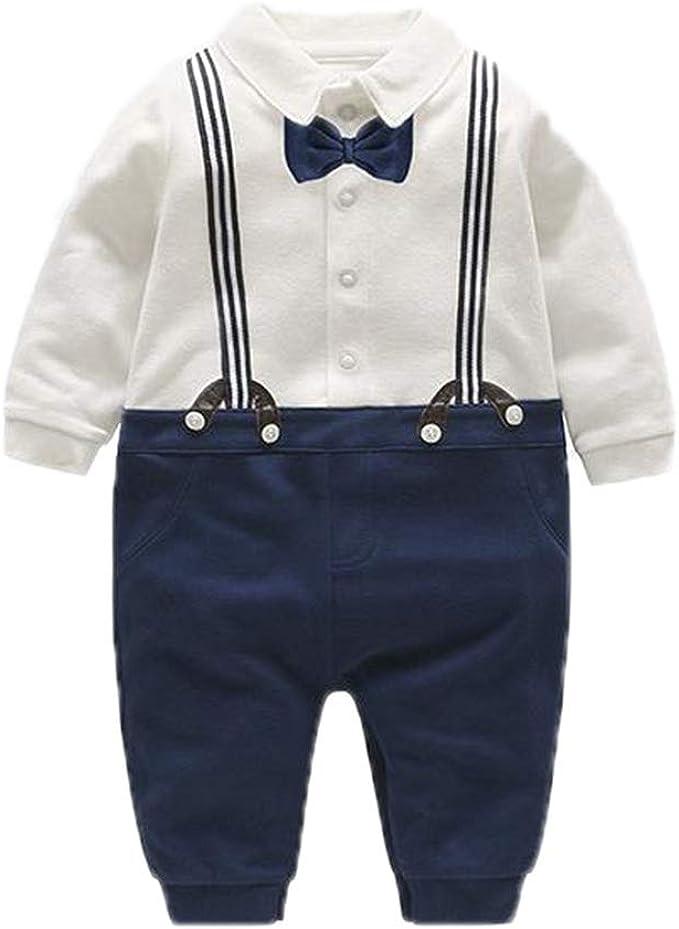 Baby Boy Camisa Ropa Traje Pantalones Camisa Correa Arco Manga ...