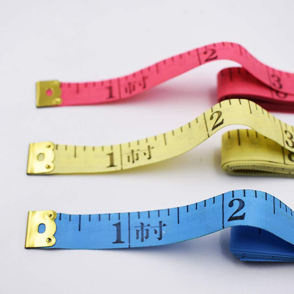 Soft Tape Measure,BESTZY 12 Pcs Tape Measurement Sewing Tape Measures150cm for Sewing Ruler Measuring Tool Yellow