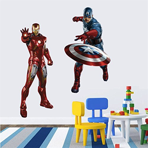 50*70 Cm the Avengers Iron Man Wall Sticker for Kid Children's Roomhome Decals Background (Avengers Wall Decal)