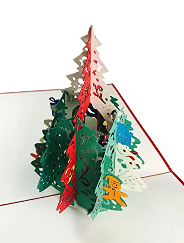 Christmas Pop Up Card - 3D Christmas Pine Tree