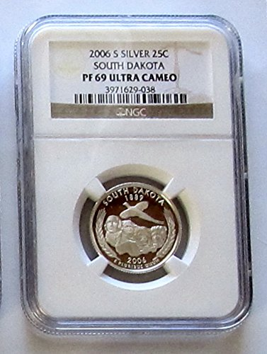 2006-S South Dakota Silver State Quarter NGC PF69