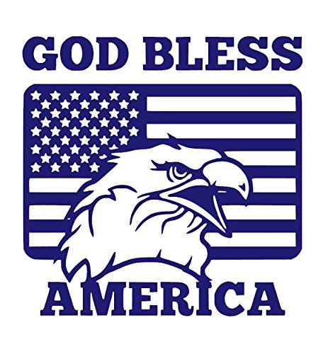- GOD BLESS AMERICA WITH US FLAG Dancing Cute Vinyl Sticker Decals for Car bumper window macbook pro laptop iPad iPhone (8