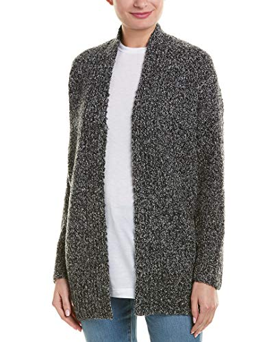 - Vince Womens Boucle Wool, Cashmere, Silk-Blend Cardigan, S, Black