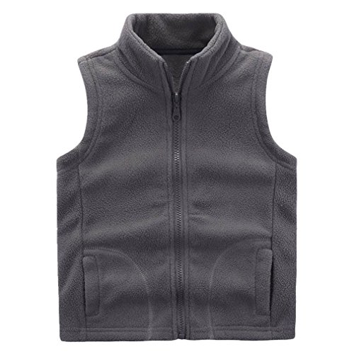 - Motteecity Boys' Warm Zipper Fleece Vest Size 3T Grey