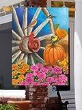 Autumn Wagon Wheel – Large Size 28 Inch X 40 Inch Decorative Flag