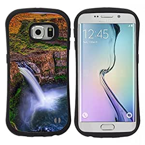 "Hypernova Slim Fit Dual Barniz Protector Caso Case Funda Para Samsung Galaxy S6 EDGE [Cascada África Sunset""]"