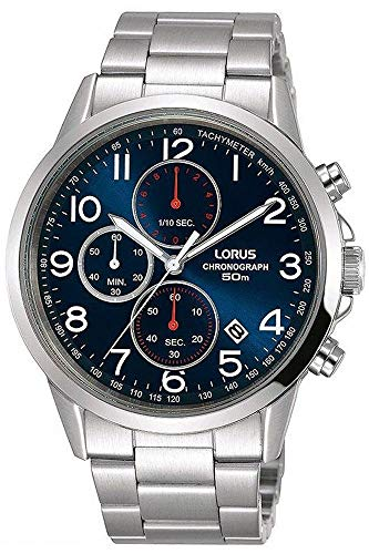 Lorus Mens Chronograph Quartz Watch with Stainless Steel Strap RM367EX9