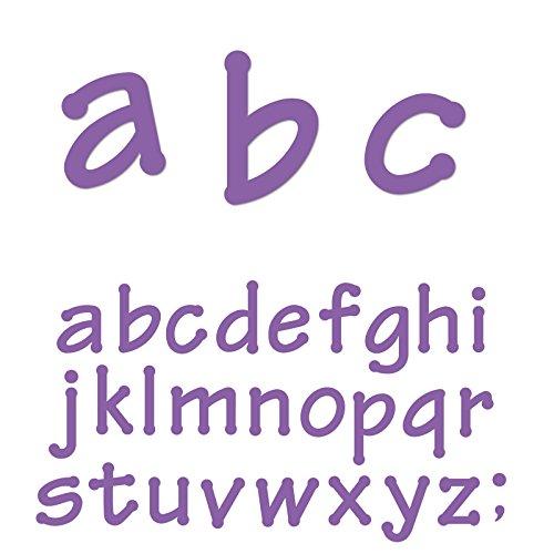 Ellison Lollipop Lowercase Letters Sure Cut Die Set by Ellison