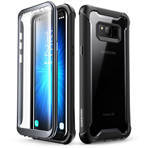 i-Blason Ares Designed for Galaxy S8 Case, Full-body Rugged Clear Bumper Case With Built-in Screen Protector for Samsung Galaxy S8 2017 Release (Black) (Best Case For Samsung Galaxy S8)