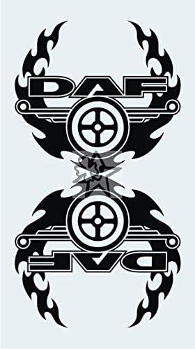Myrockshirt 2x Dafaufkleber No352 Tribal Ca 20 Cm Aufkleber Lkw Truck Tuning Trucker Sticker Decal Auto