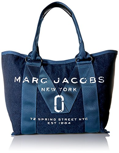 Price comparison product image Marc Jacobs Women's New Logo Small Tote, Denim