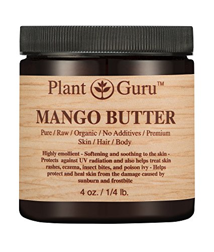 Mango Body Butter 4 oz. 100% Pure Raw Fresh Natural Cold Pressed. Skin Body and Hair Moisturizer, DIY Creams, Balms, Lotions, Soaps.